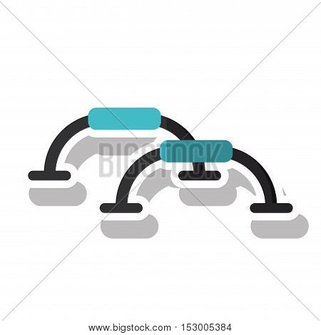 Push up bars icon. Fitness gym sport and bodybuilding theme. Isolated design. Vector illustration