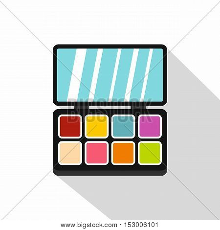Colorful makeup palette icon. Flat illustration of colorful makeup palette vector icon for web