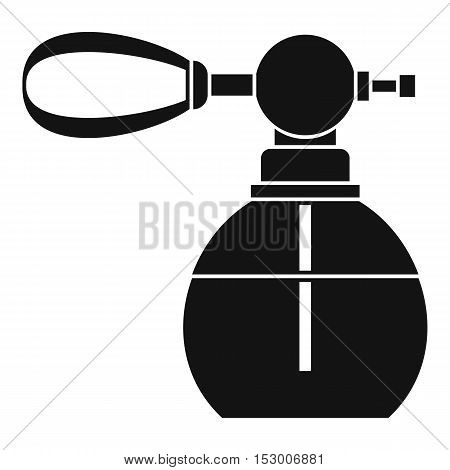 Perfume bottle with vaporizer icon. Simple illustration of perfume bottle vector icon for web