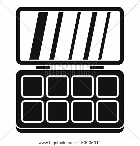 Makeup cosmetics icon. Simple illustration of makeup cosmetics vector icon for web