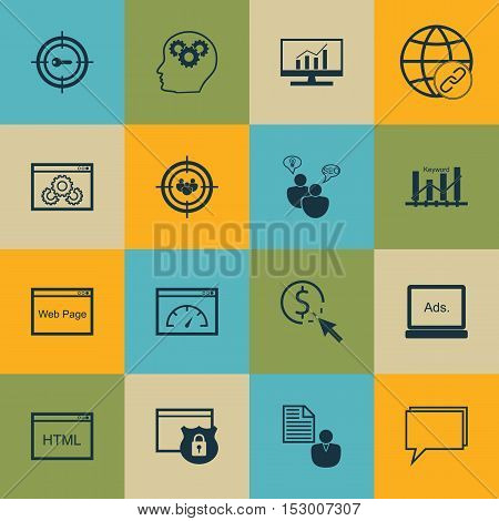 Set Of Marketing Icons On Conference, Loading Speed And Ppc Topics. Editable Vector Illustration. In