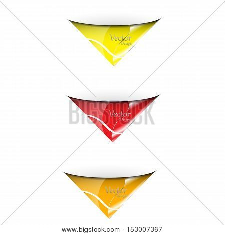 vector set of banners.Collection of multi-colored templates