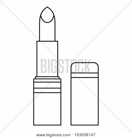 Lipstick icon. Outline illustration of lipstick vector icon for web