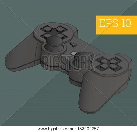 gamepad eps10 vector illustration. console joystick controller