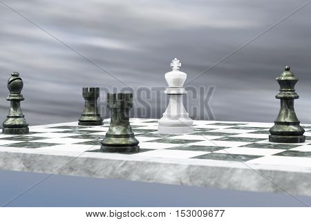 For the king there is no way out (3d rendering)