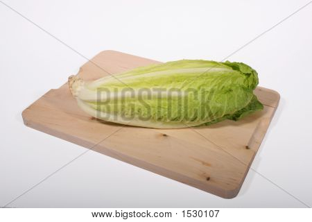Lettuce On Cutting Board