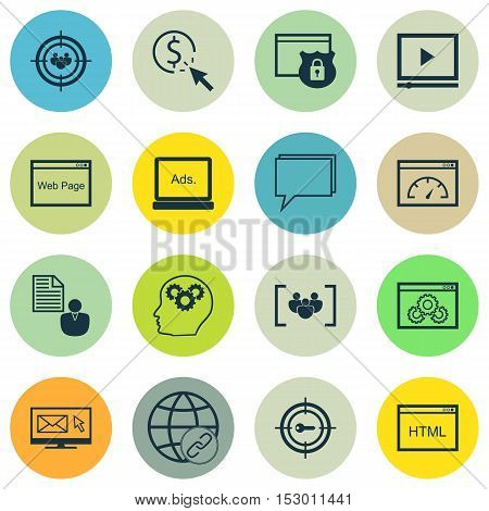 Set Of Seo Icons On Loading Speed, Website And Focus Group Topics. Editable Vector Illustration. Inc