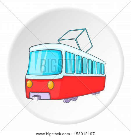 Tram icon. Isometric illustration of tram vector icon for web