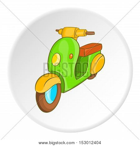 Motorcycle icon. Isometric illustration of motorcycle vector icon for web