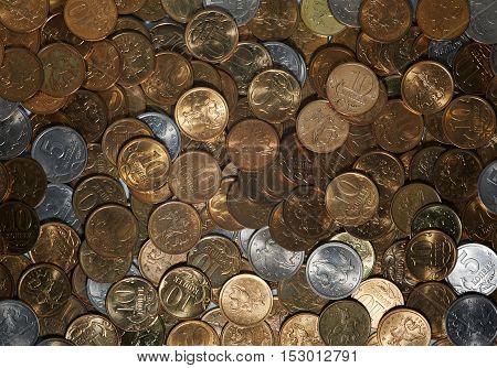 Petty russian cash coins of different denomination kopiyka