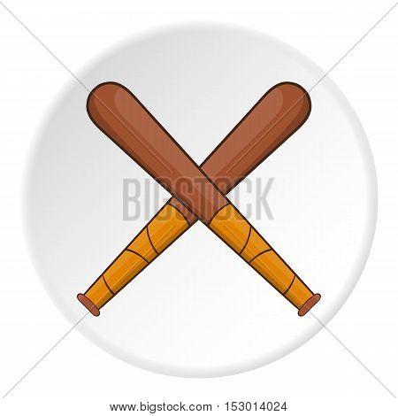 Baseball bats icon. Flat illustration of baseball bats vector icon for web