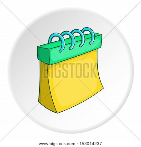 Notepad icon. Isometric illustration of notepad vector icon for web