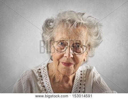 Beautiful grandmother smiling