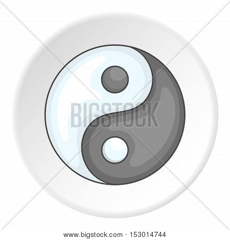 Yin Yang icon. Flat illustration of Yin Yang vector icon for web
