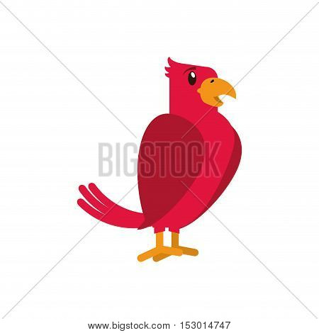 Bird cartoon icon. Pet animal domestic and care theme. Isolated design. Vector illustration