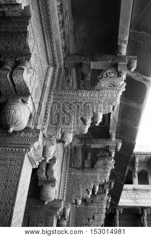 Architectural Detail at Agra Fort, Agra, India