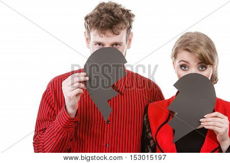 Couple Hiding Their Faces.