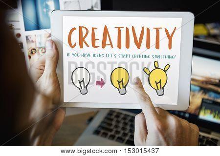 Creativity Create Lighting Bulb Graphic Concept