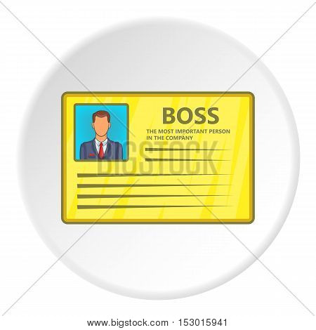 Business card icon. Flat illustration of business card vector icon for web