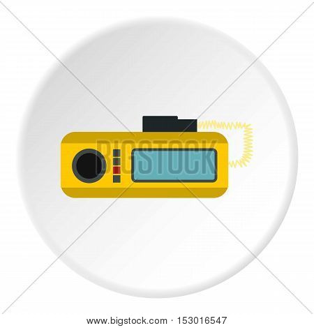 Radio taxi icon. Flat illustration of radio taxi vector icon for web