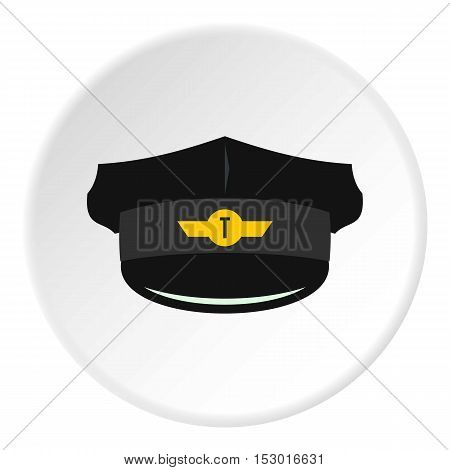Cap taxi driver icon. Flat illustration of cap taxi driver vector icon for web