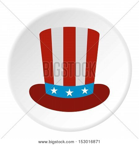 American hat icon. Flat illustration of american hat vector icon for web