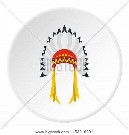 Indian headdress icon. Flat illustration of indian headdress vector icon for web