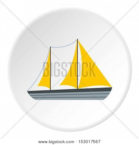 Yacht icon. Flat illustration of yacht vector icon for web