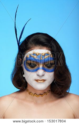 Bodyart On Women Face