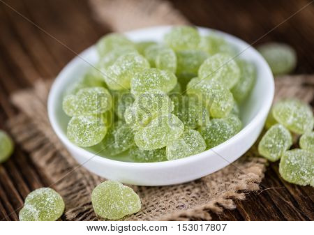 Portion Of Gummy Candy (apple Taste)