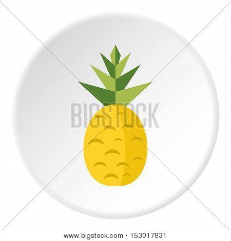 Pineapple icon. Flat illustration of pineapple vector icon for web