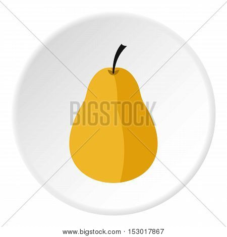 Pear icon. Flat illustration of pear vector icon for web