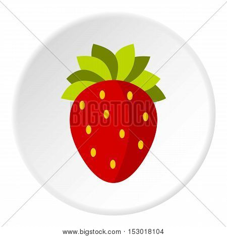 Strawberry icon. Flat illustration of strawberry vector icon for web
