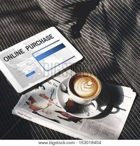 Online Purchase Internet Shopping Commerce Concept