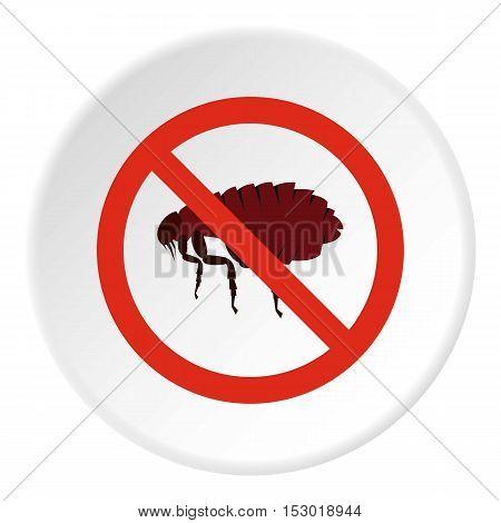 Prohibition sign fleas icon. Flat illustration of prohibition sign fleas vector icon for web