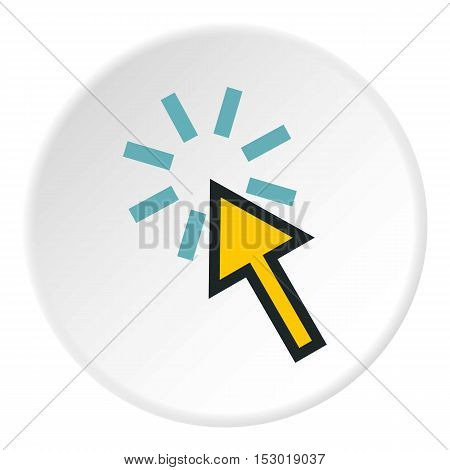 Cursor arrow is pointing icon. Flat illustration of cursor arrow is pointing vector icon for web