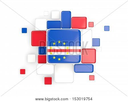 Flag Of Cape Verde, Mosaic Background