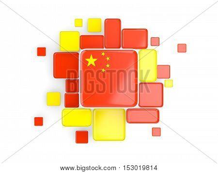 Flag Of China, Mosaic Background