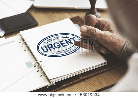 Urgent Guarantee Approved Brand Label Concept