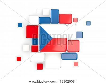 Flag Of Czech Republic, Mosaic Background