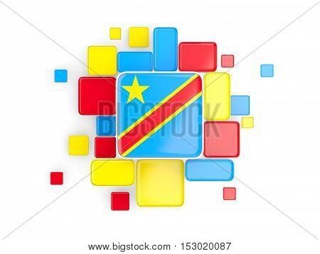 Flag Of Democratic Republic Of The Congo, Mosaic Background