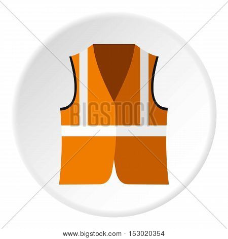 Reflective vest icon. Flat illustration of reflective vest vector icon for web