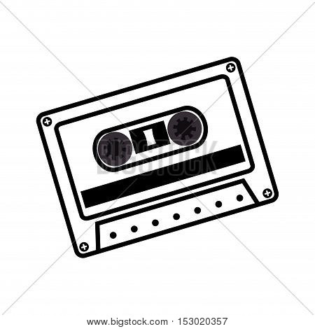 hand drawing cassette music record icon vector illustration eps 10