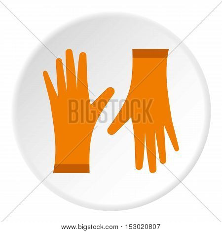 Rubber gloves icon. Flat illustration of rubber gloves vector icon for web