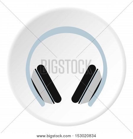 Headphones icon. Flat illustration of headphones vector icon for web