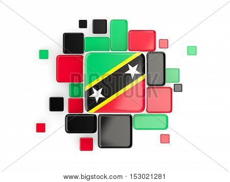 Flag Of Saint Kitts And Nevis, Mosaic Background