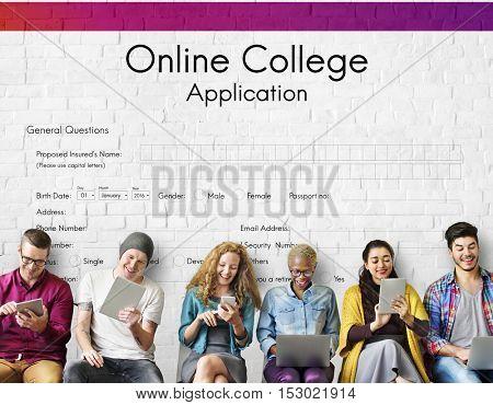 Online College Application Form Concept