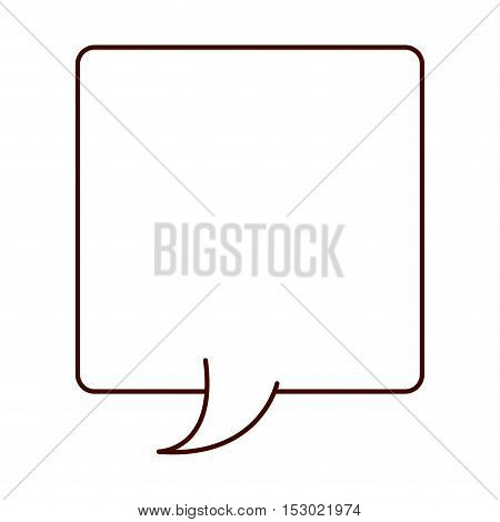 silhouette rectangle callout for dialogue vector illustration