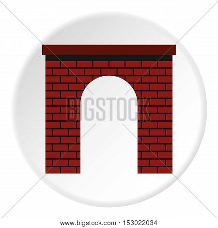 Brick arch icon. Flat illustration of brick arch vector icon for web