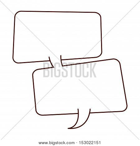 silhouette two rounded rectangle callout vector illustration vector illustration